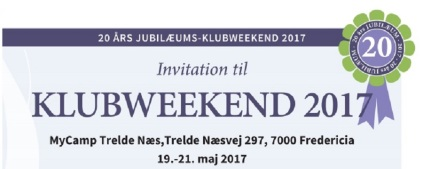 Program for 20 år Jubilæumsweekend.